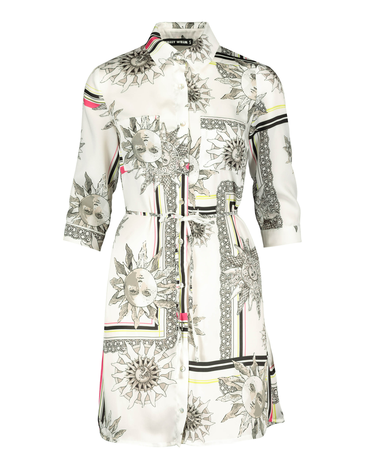 Shirt Dress with Baroque Print
