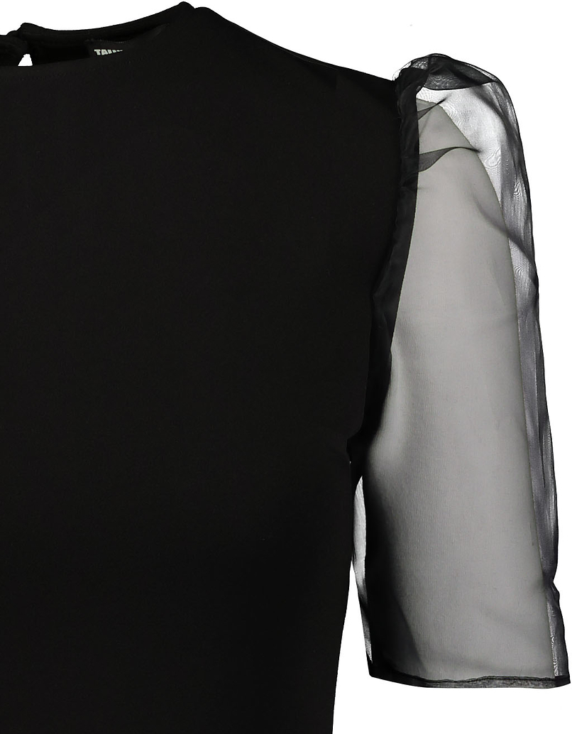Robe Noire Manches en Organza