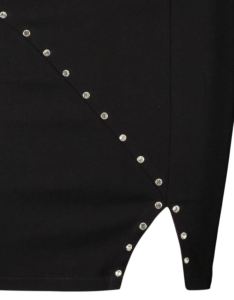 Robe Noire Asymétrique