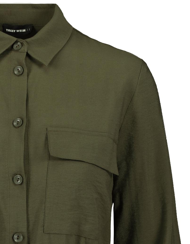 Grünes Cargo Kleid