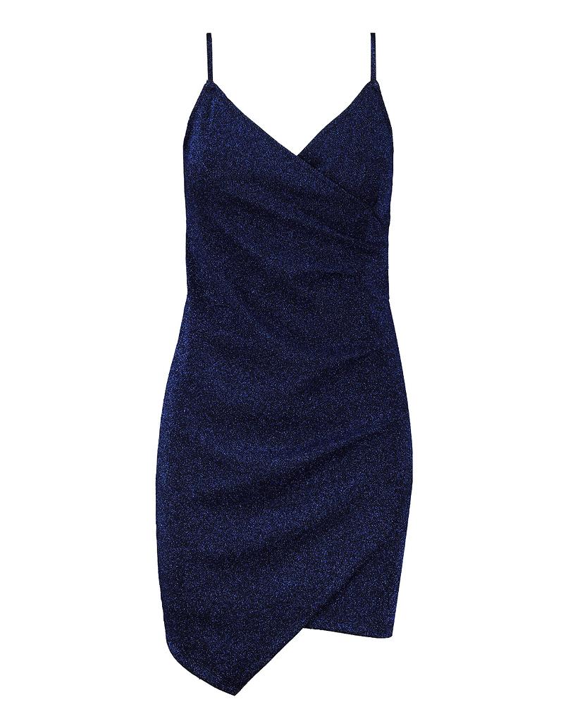 Robe en Lurex Bleu Métalisé