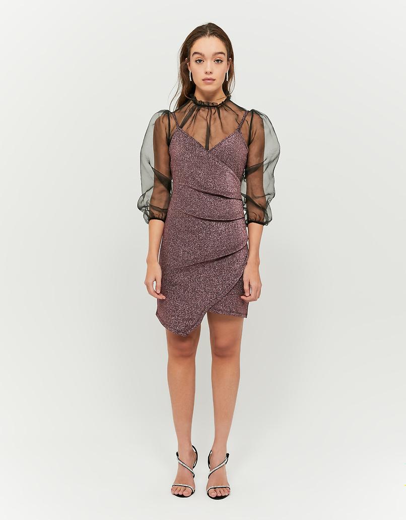 Metallic Pink Lurex Dress