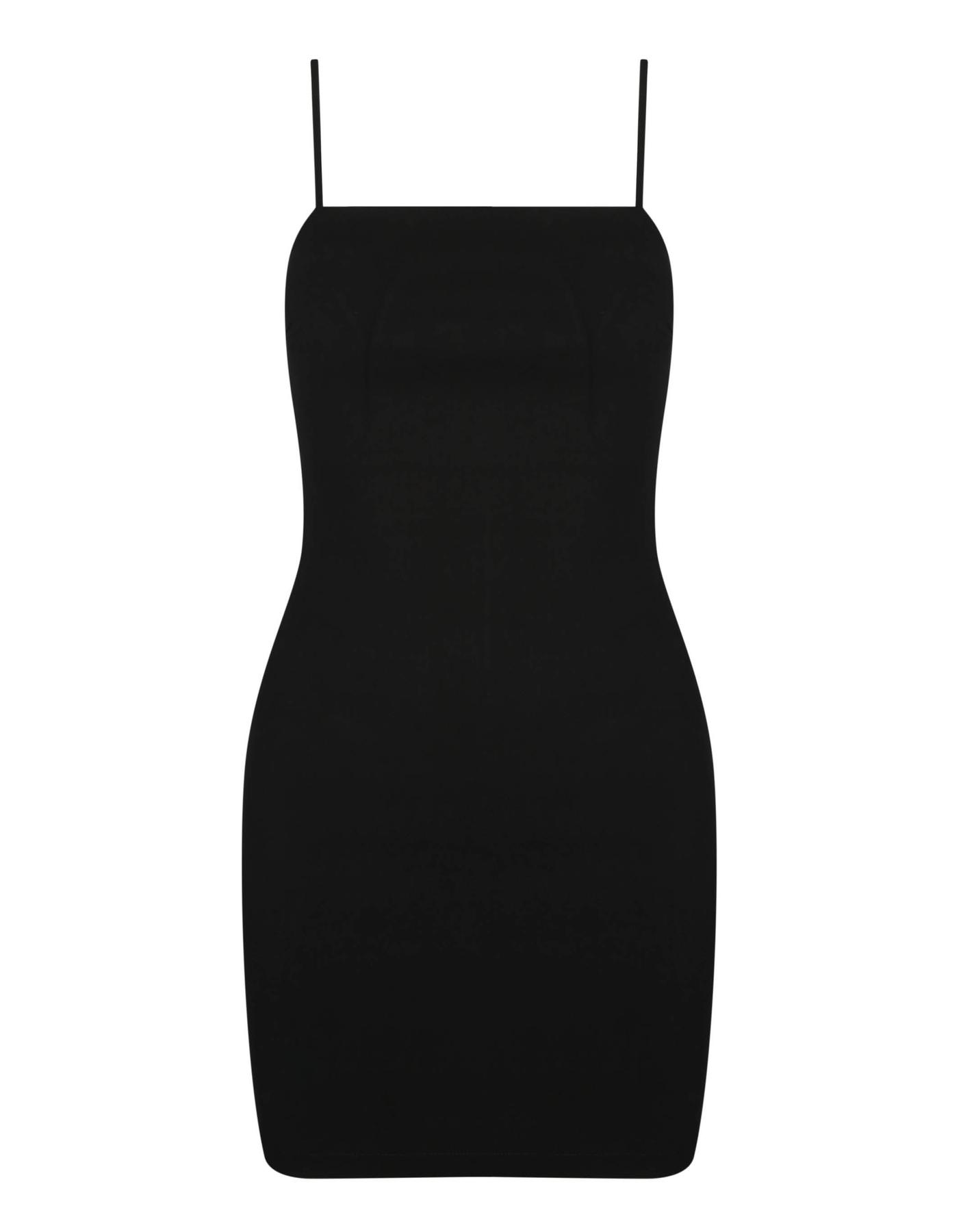 Schwarzes, figurbetontes Trägerkleid