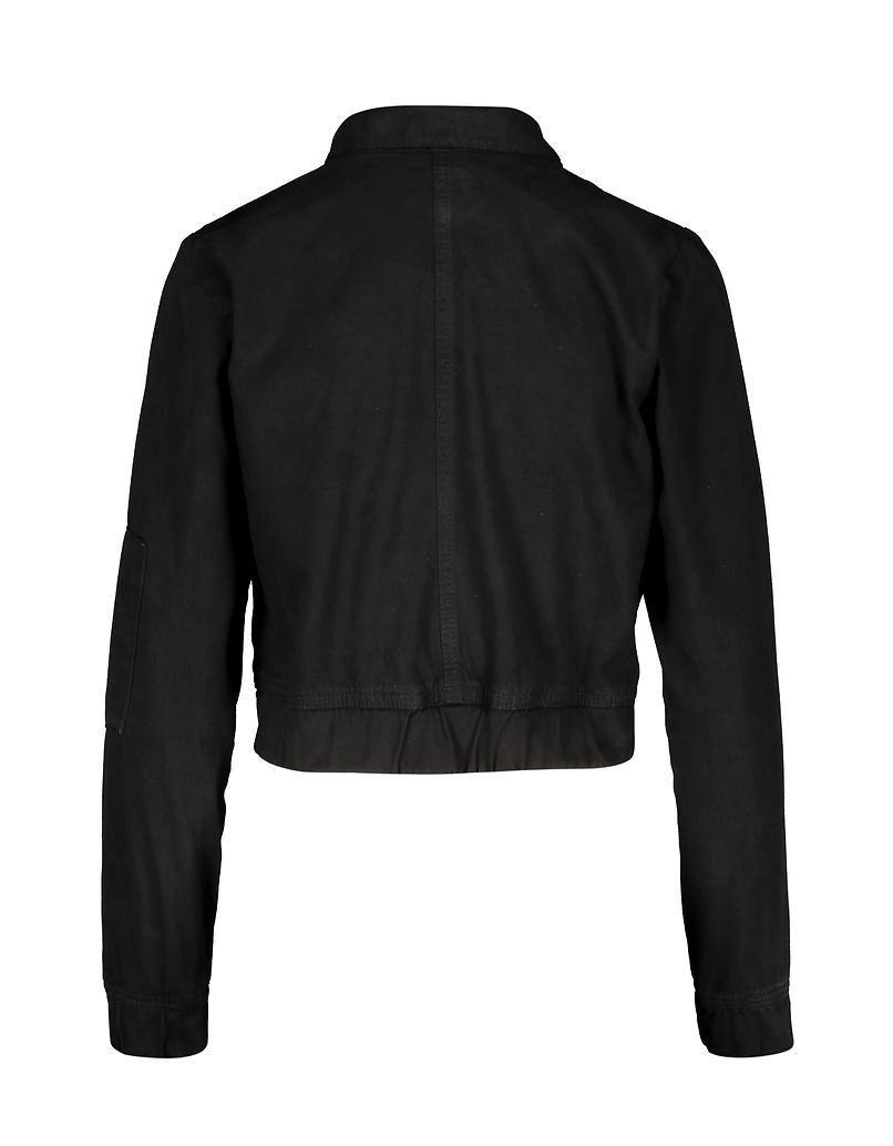 Black Elastic Waist Jacket