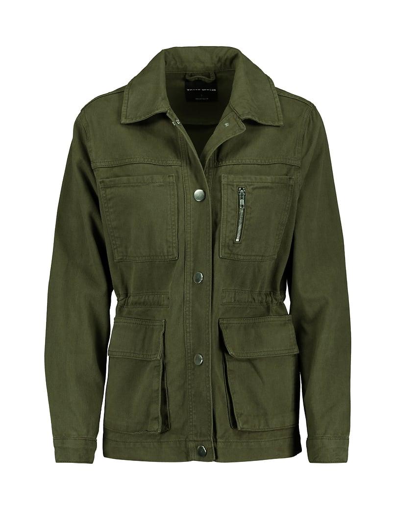 Khaki Cargo Jacke
