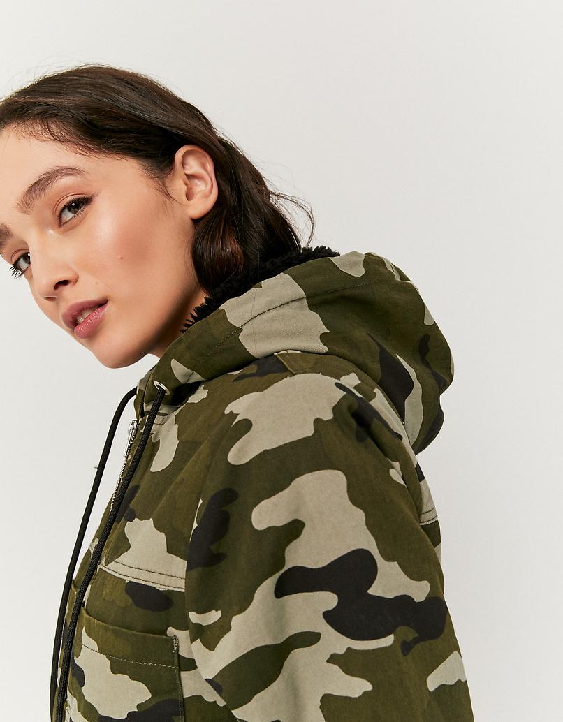 Camouflage Cropped Jacket