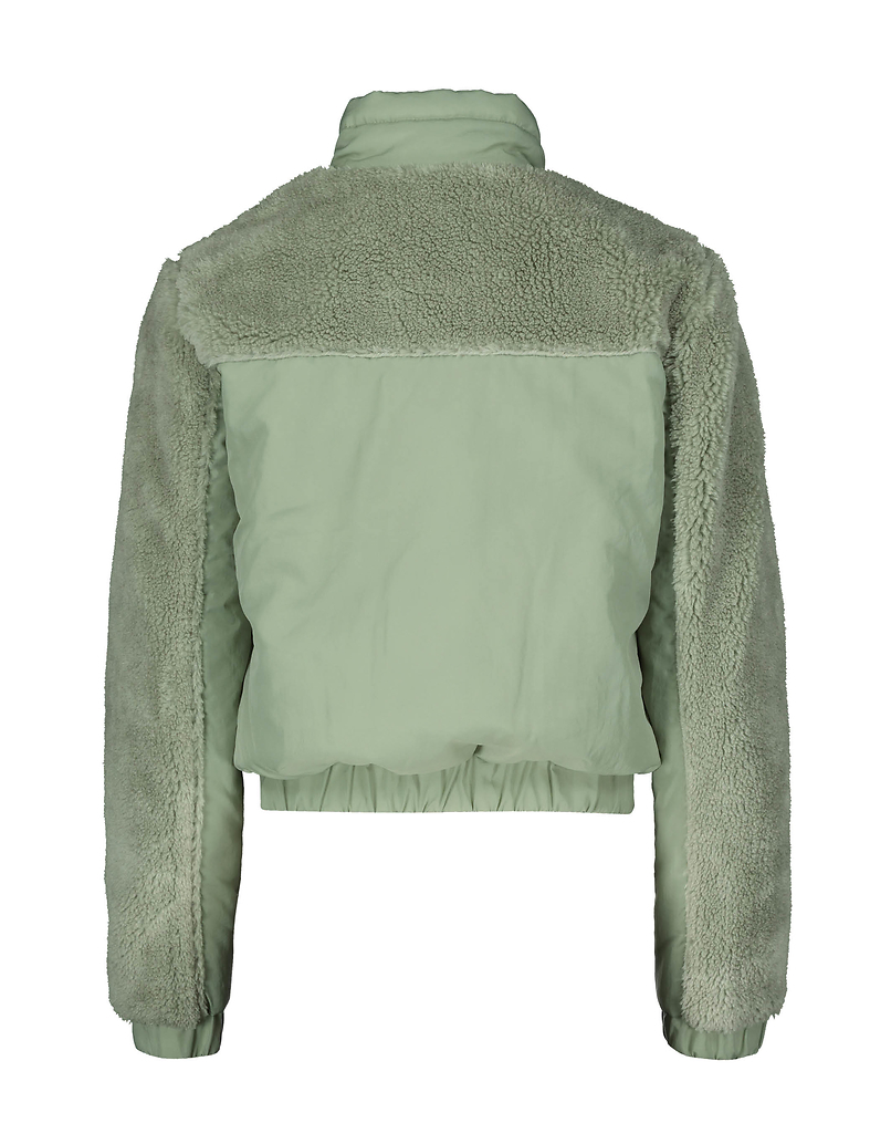 Windbreaker Jacket with Sherpa detail