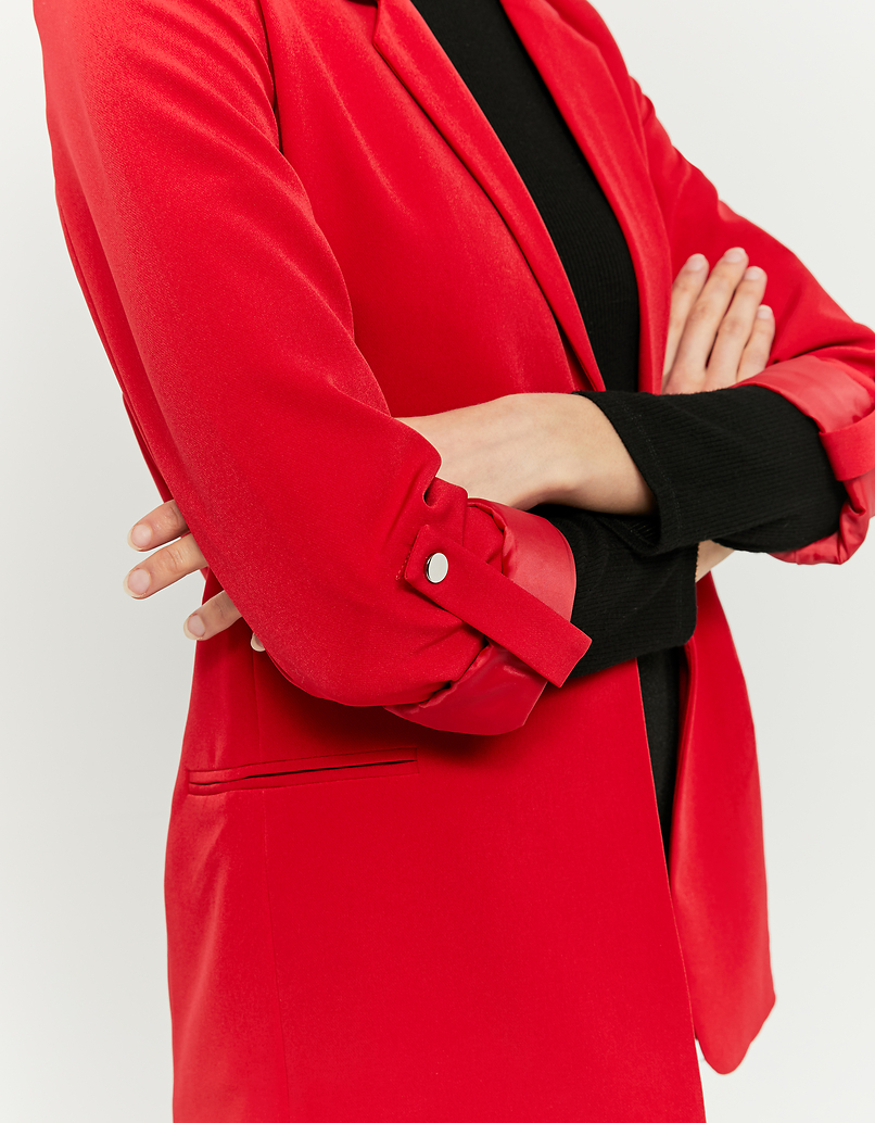 Red Open Front Blazer