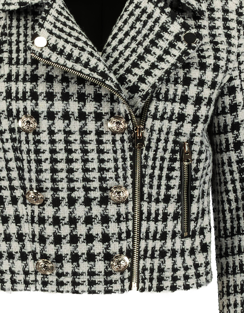Tweed Biker Jacket