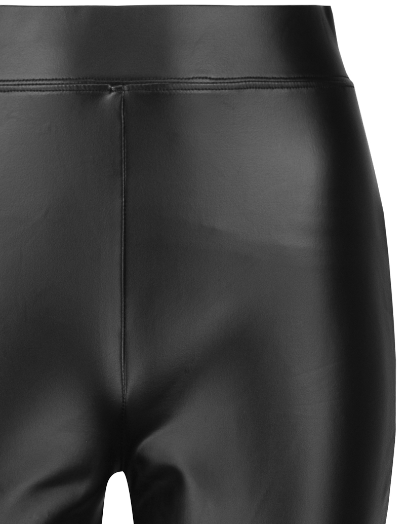 Black Coated Flare Leggings