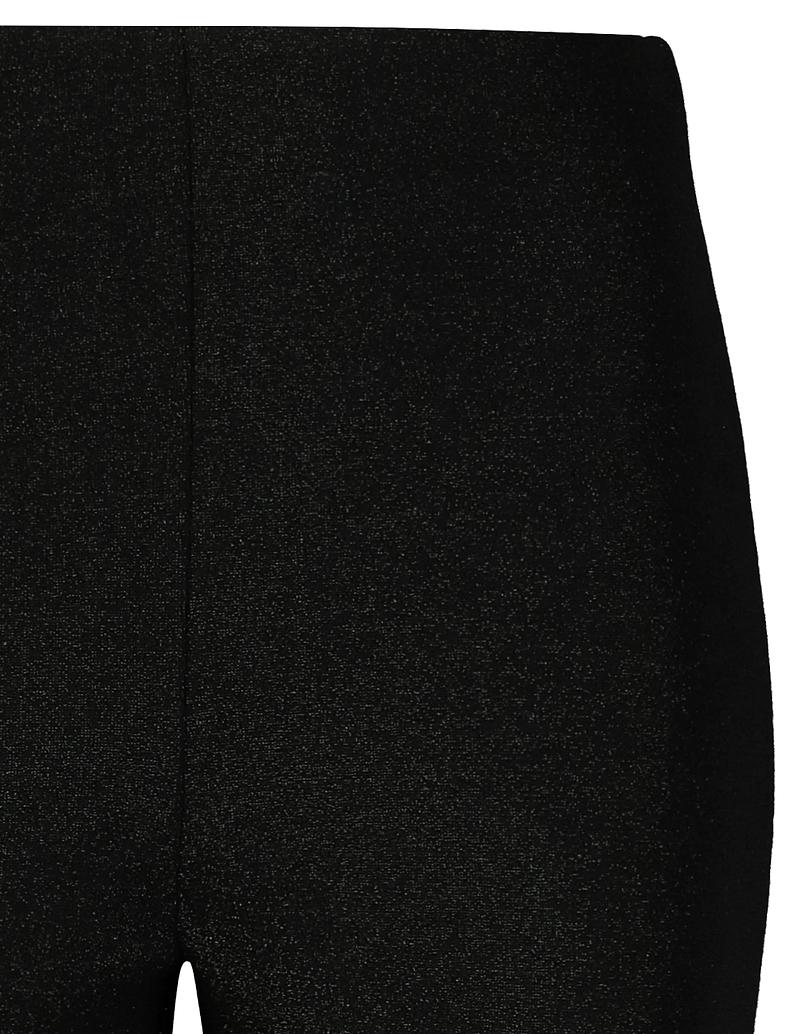 Black Lurex Flare Leggings