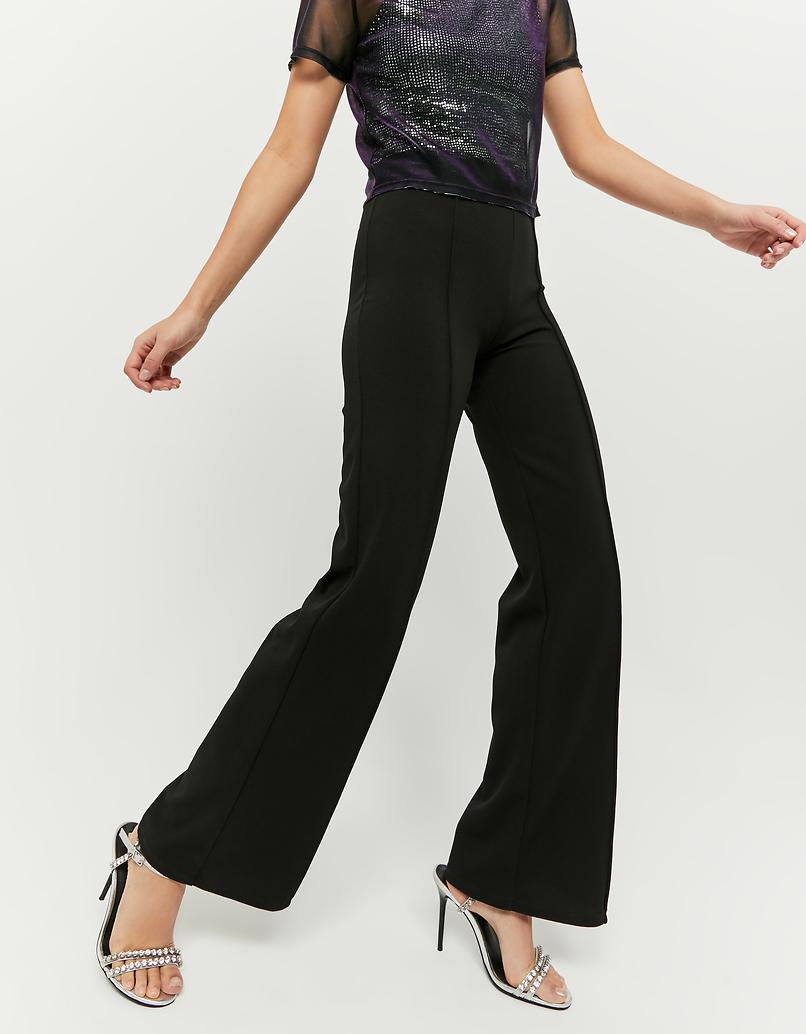 Black Dressy Flare Leggings
