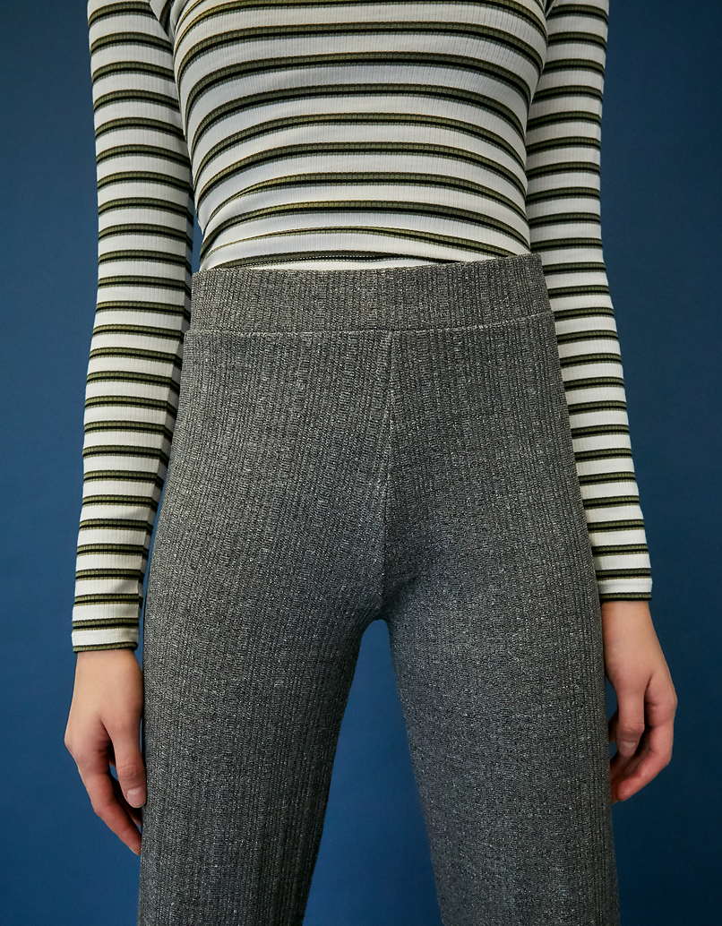 Grey Flare Leggings