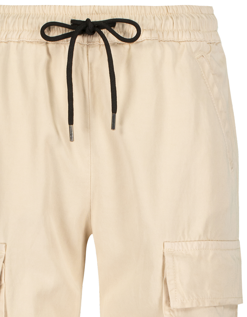 Pantalon Beige Cargo Zippé