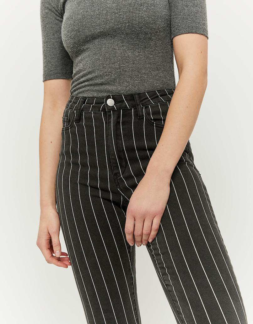 High Waist Skinny Jeans mit Nadelstreifen