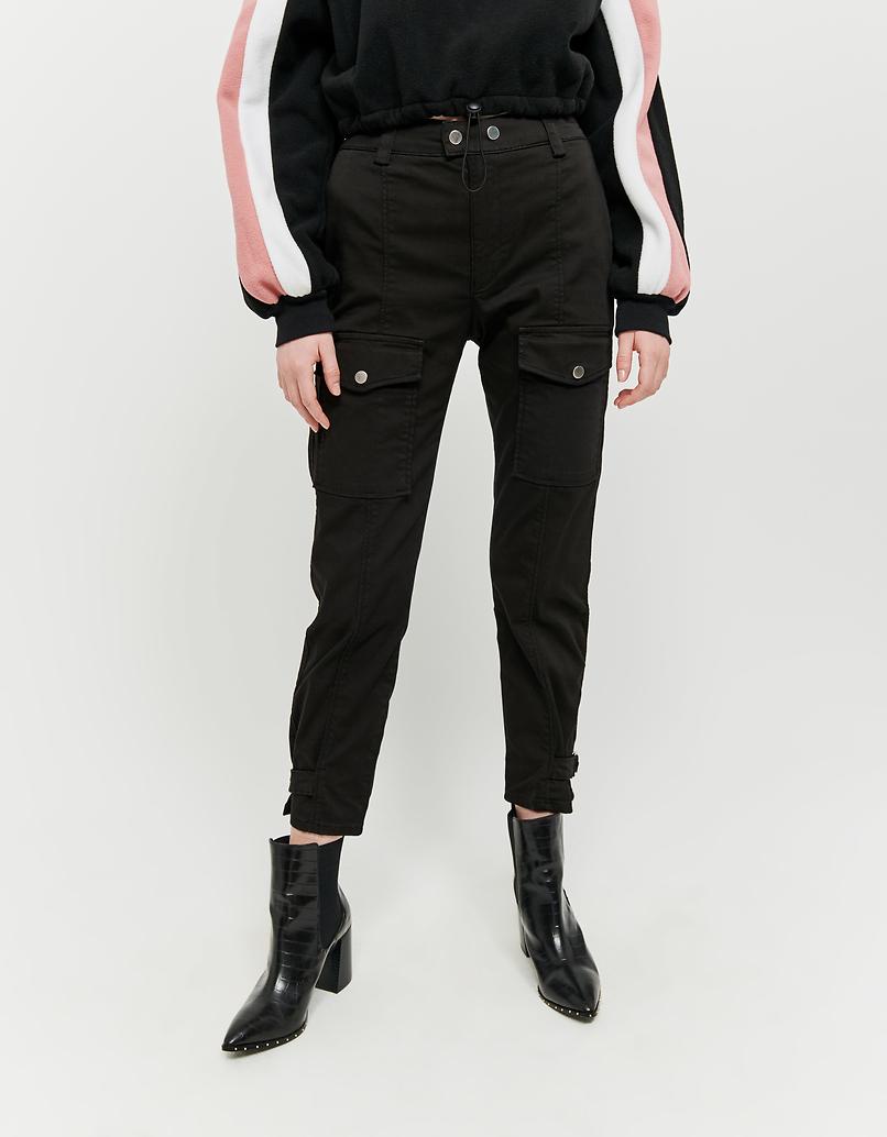 Pantaloni Cargo con Dettaglio Nodo