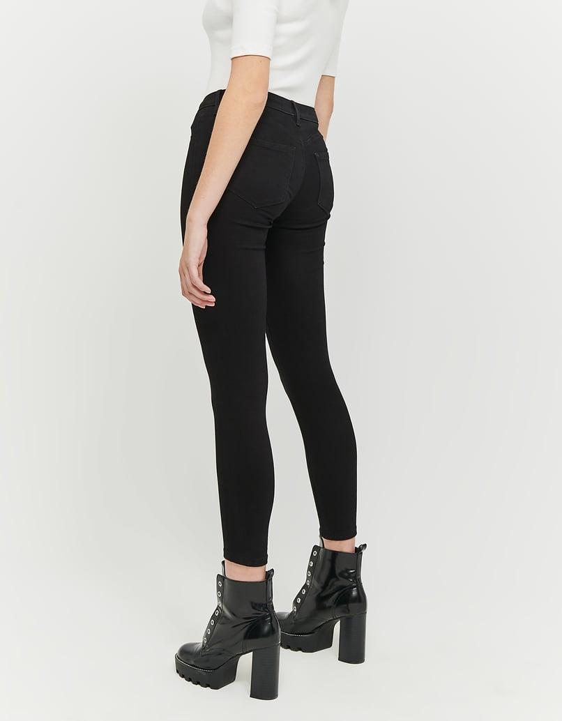 Schwarze Low Waist Skinny Hose