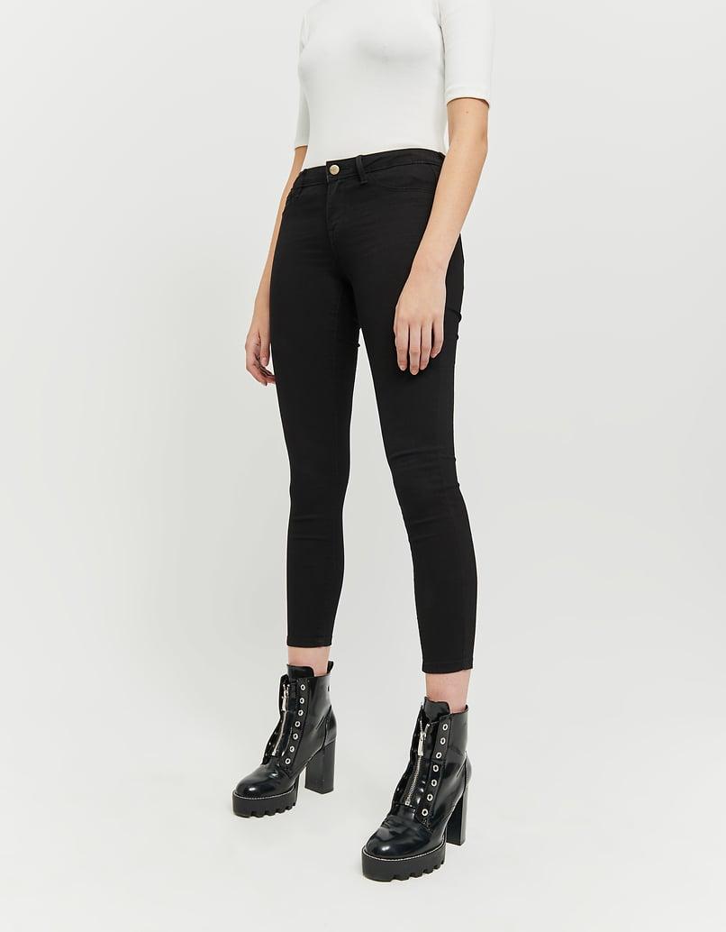 Black Low Waist Skinny Trousers
