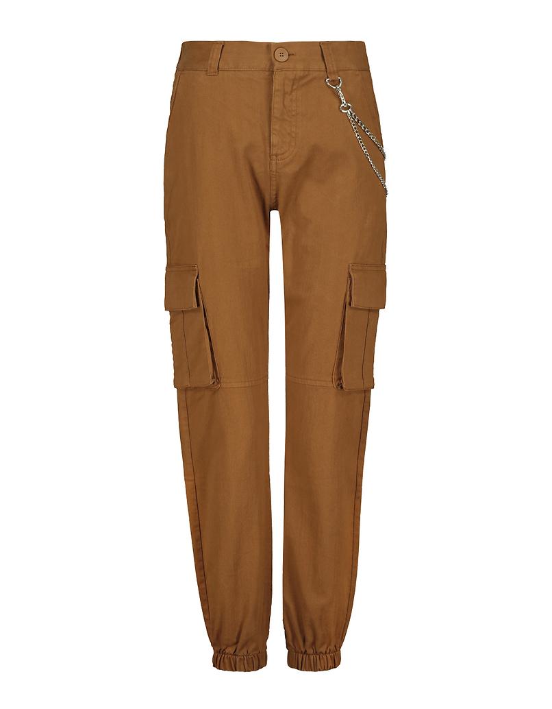Pantalon Cargo Taille Haute avec Chaîne