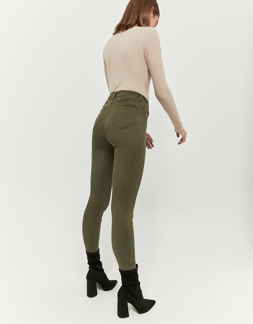 Pantalon Skinny Push Up Kaki
