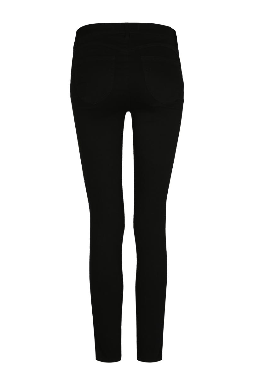 Pantalon Push-Up Noir à Bandes Latérales