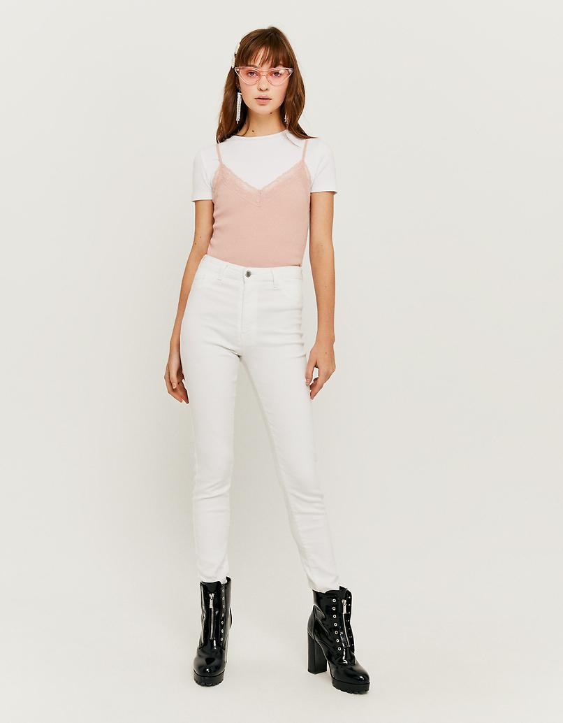 Weisse High Waist Skinny Hose