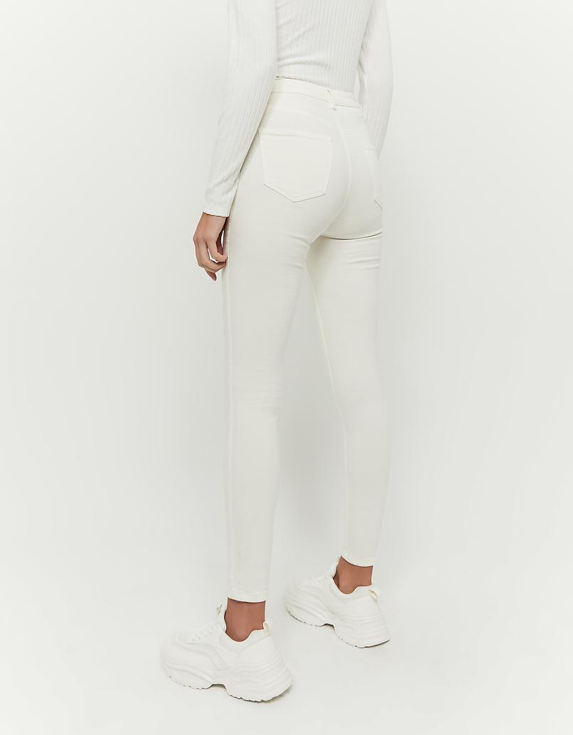 Ivory High Waist Skinny Pants