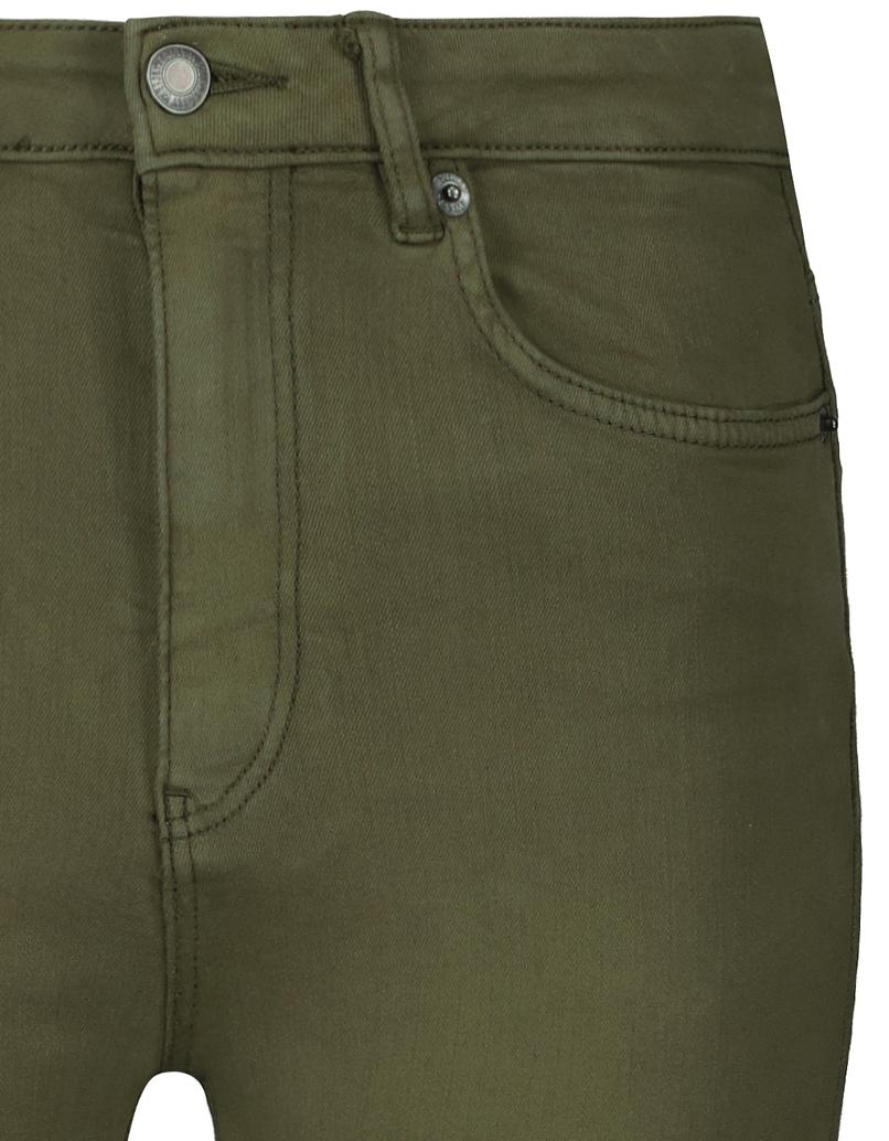Khaki spodnie Skinny z wysokim stanem