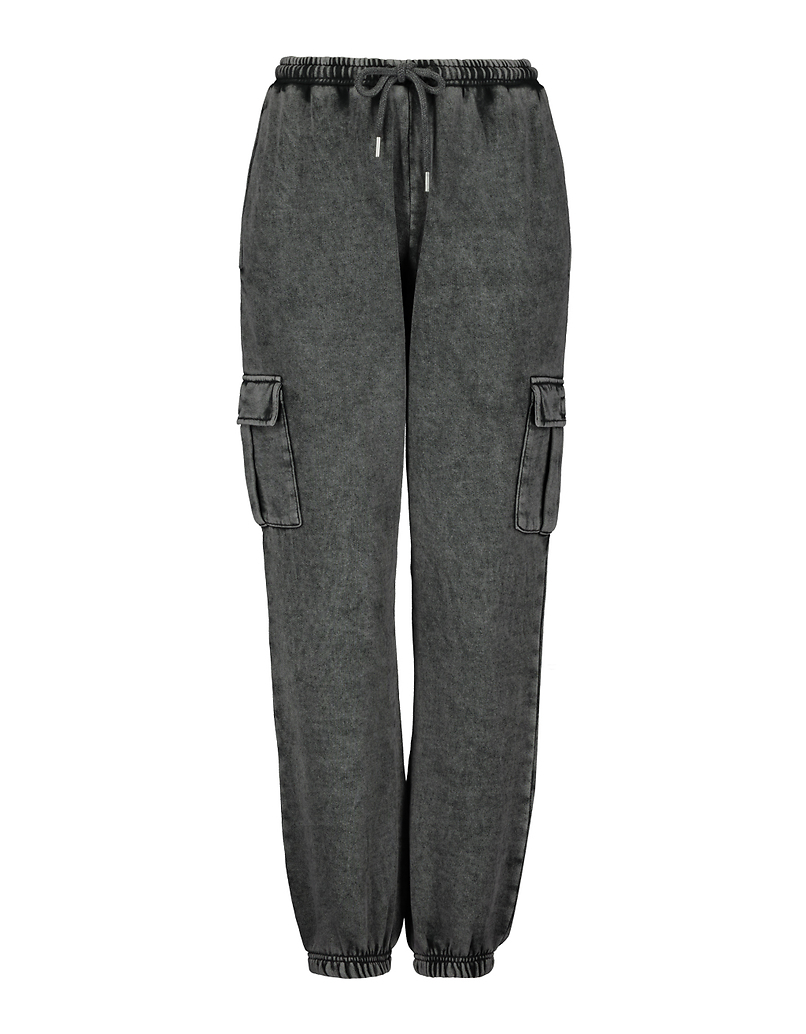 Washed Grey Jogger Pants