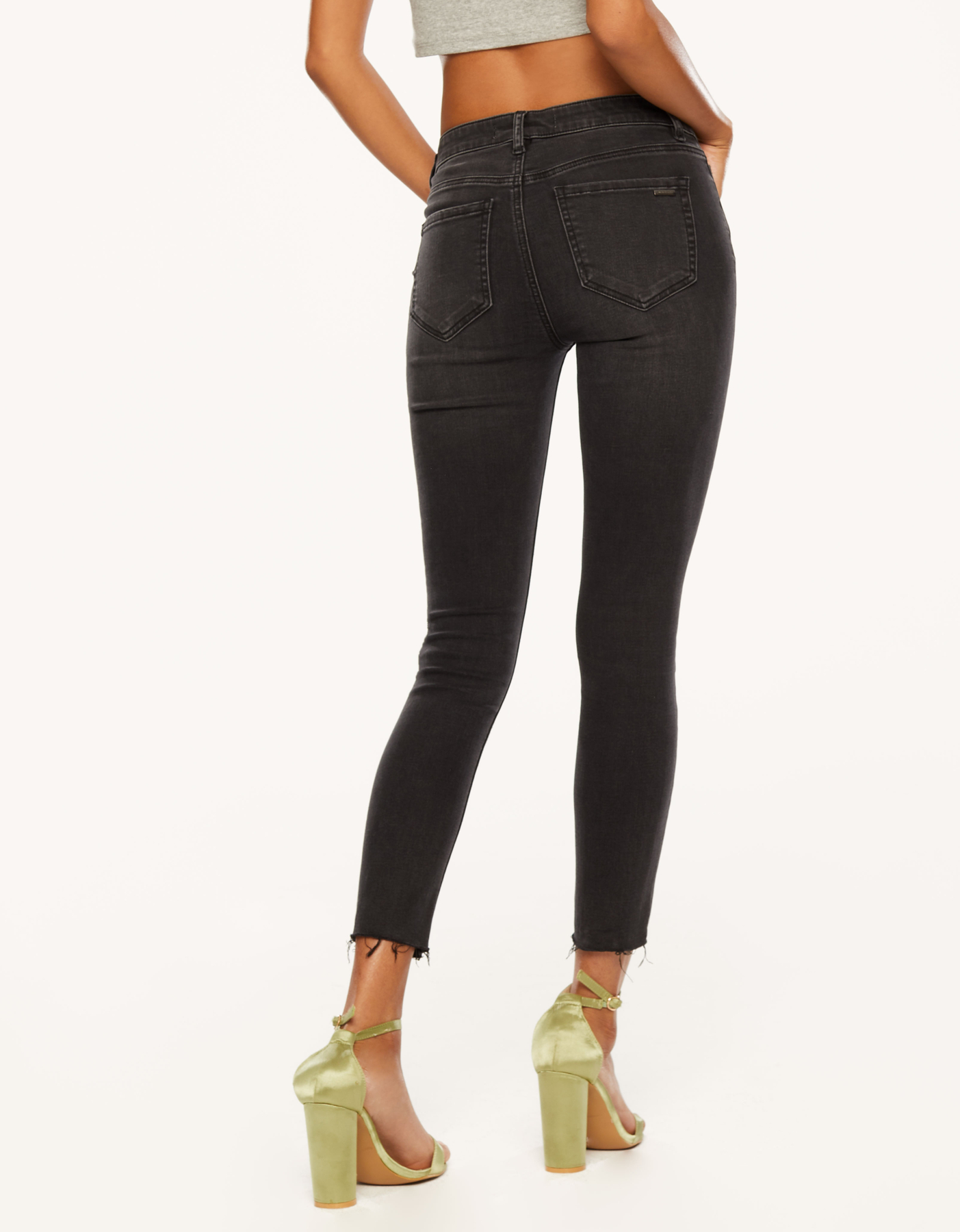 Low Waist Button Up Jeans