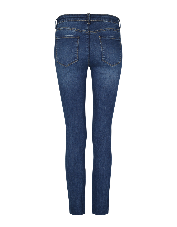 Low Waist Destroyed Skinny Jeans