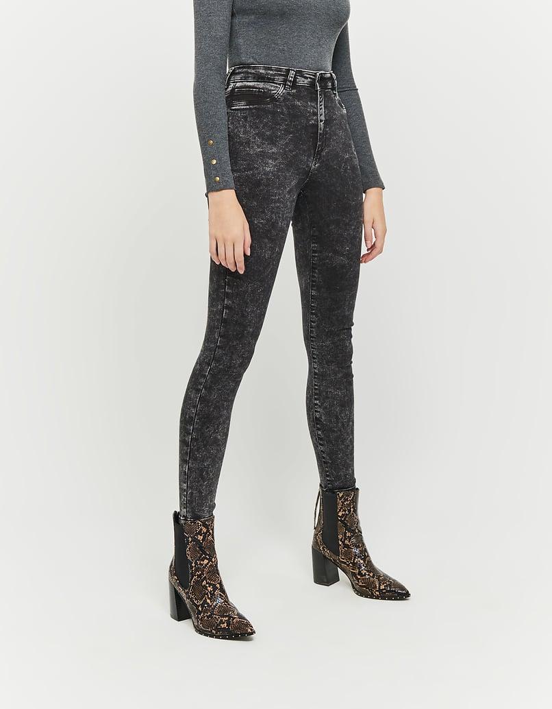 Schwarze, High Waist Skinny Jeans