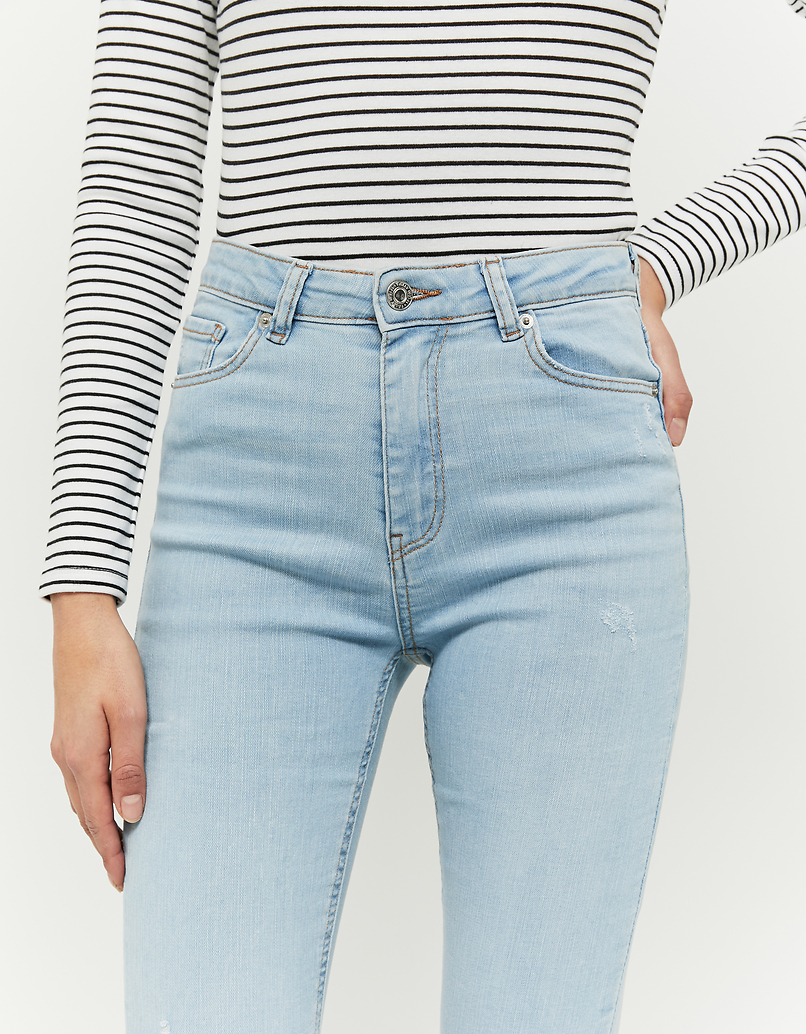 High Waist Skinny Cropped Jeans