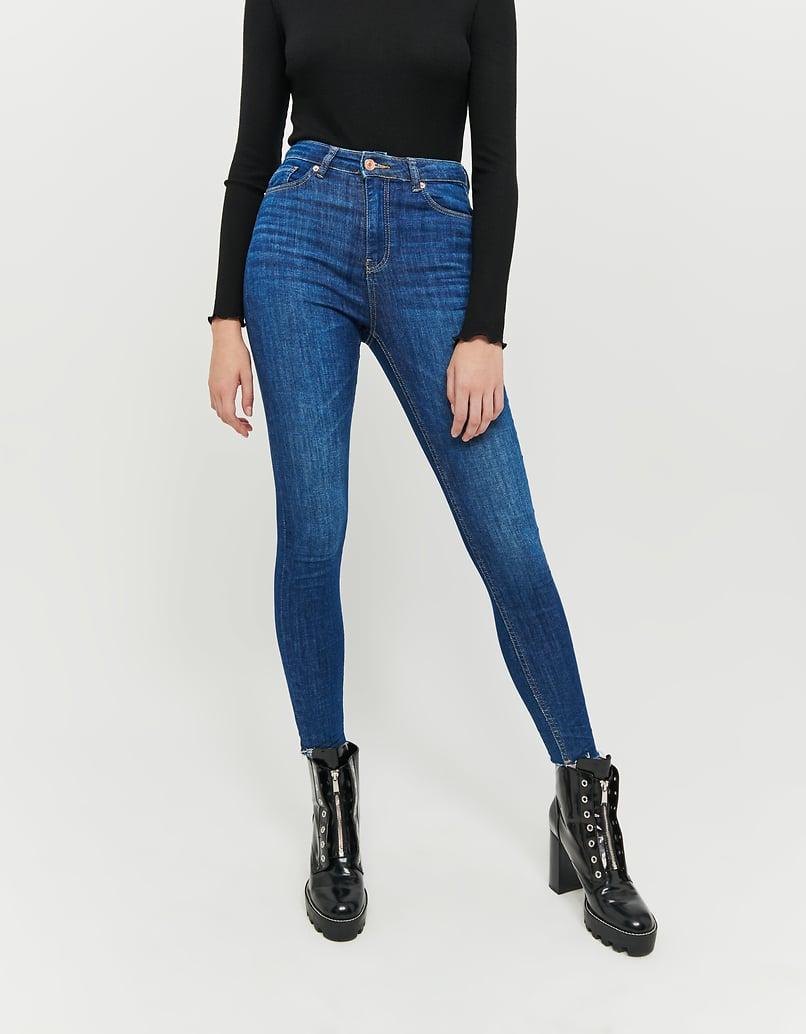 Jean Court Skinny Taille Haute