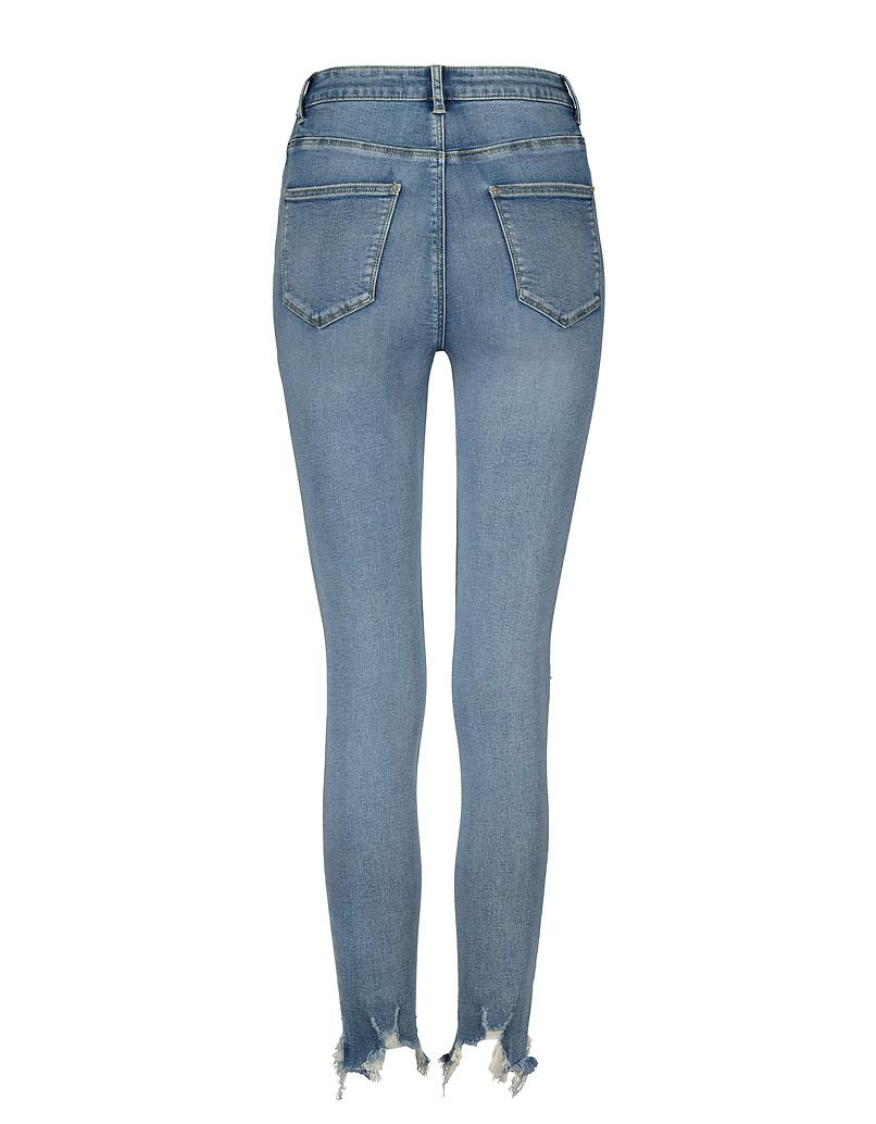 Jean Skinny Déchiré Taille Haute