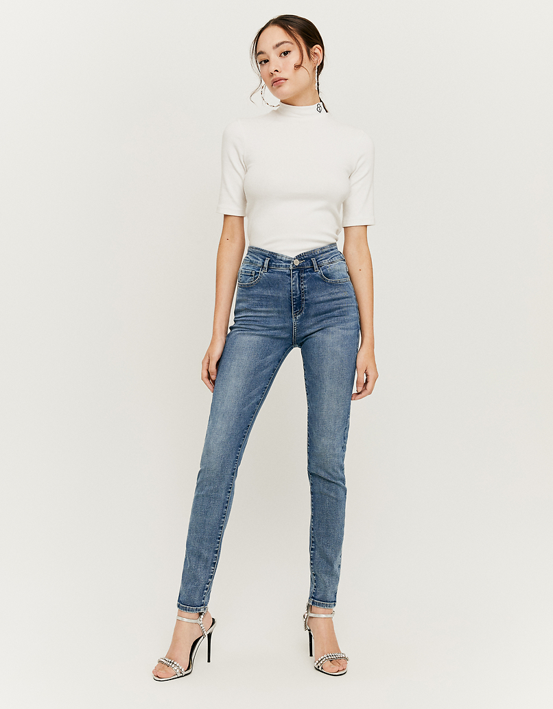 High Waist V Cut Waistband Jeans