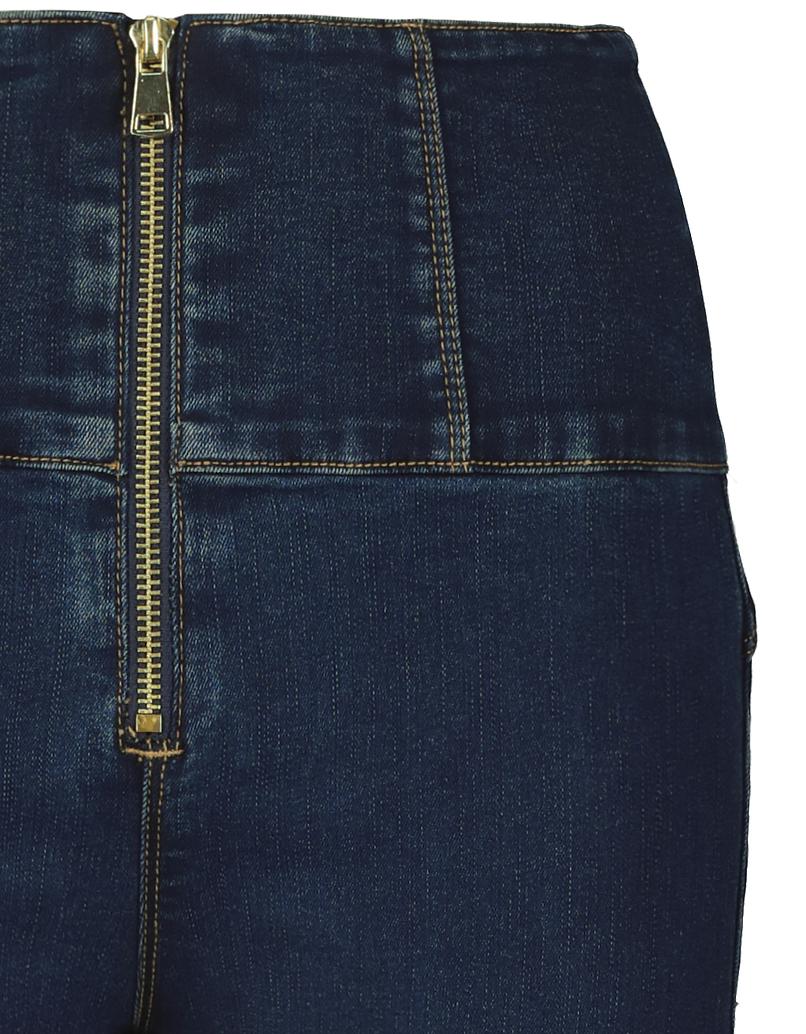 Very High Waist Skinny Jeans mit Reißverschluss