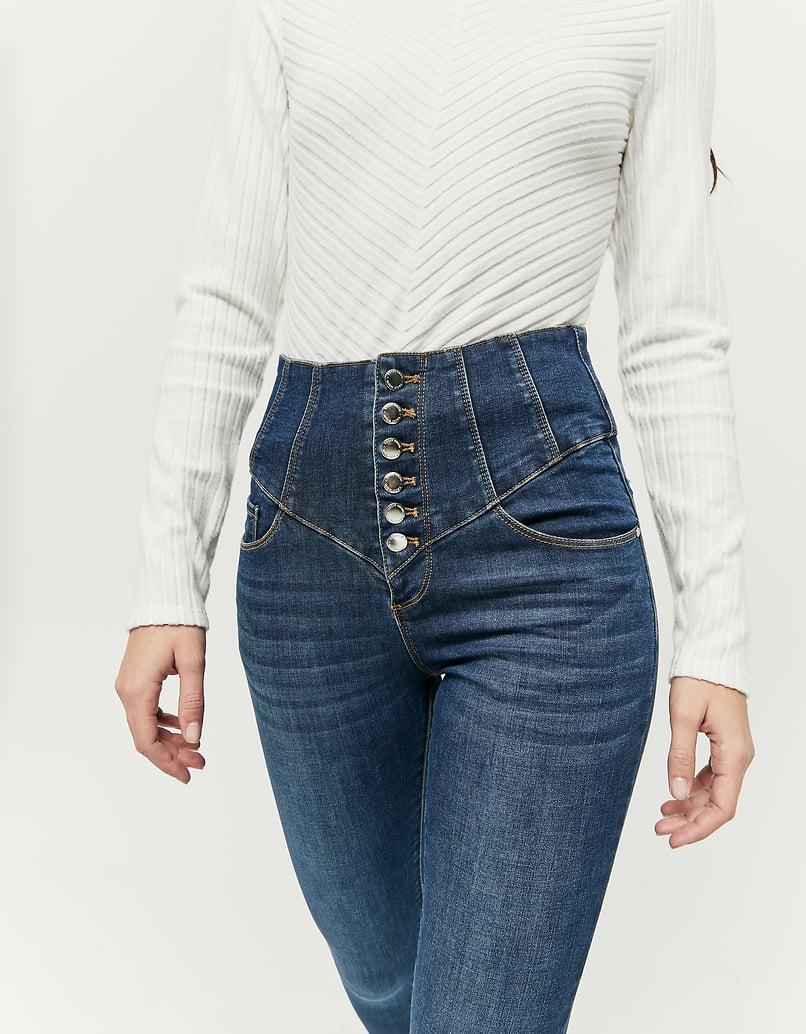 Very High Waist Corset Skinny Jeans