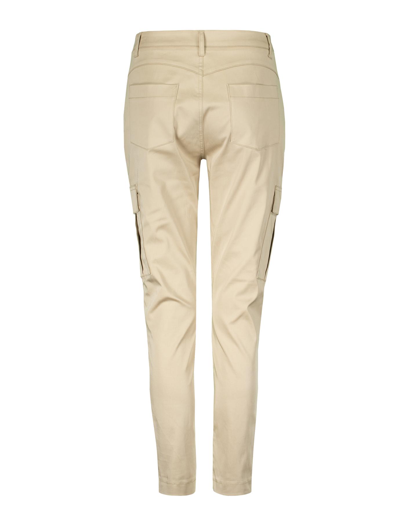 Beige Skinny Cargo Trousers