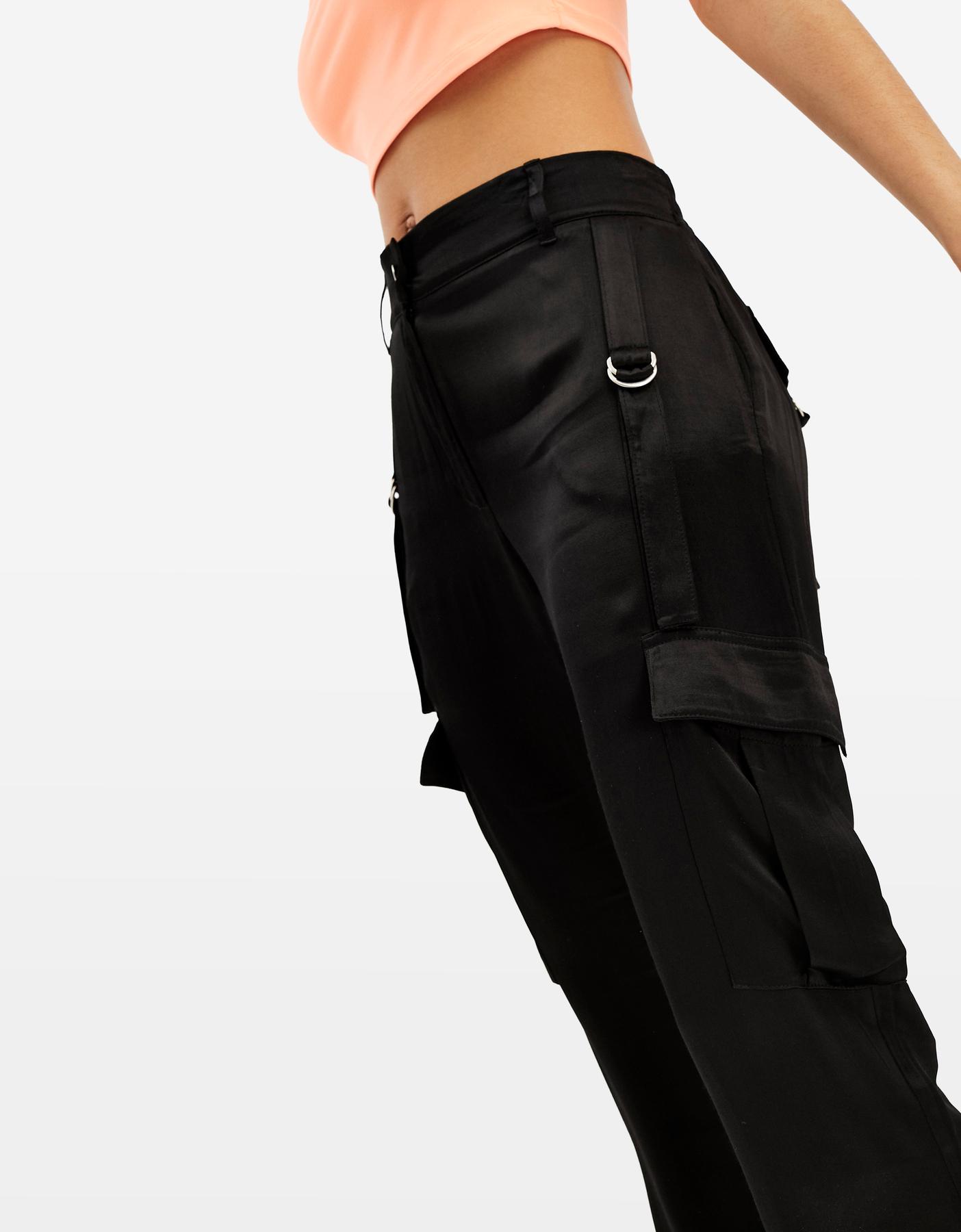 Pantaloni Cargo Neri