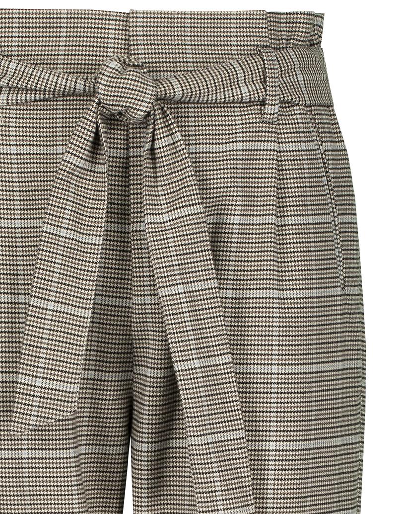 Pantalon à Carreaux Taille Froncée