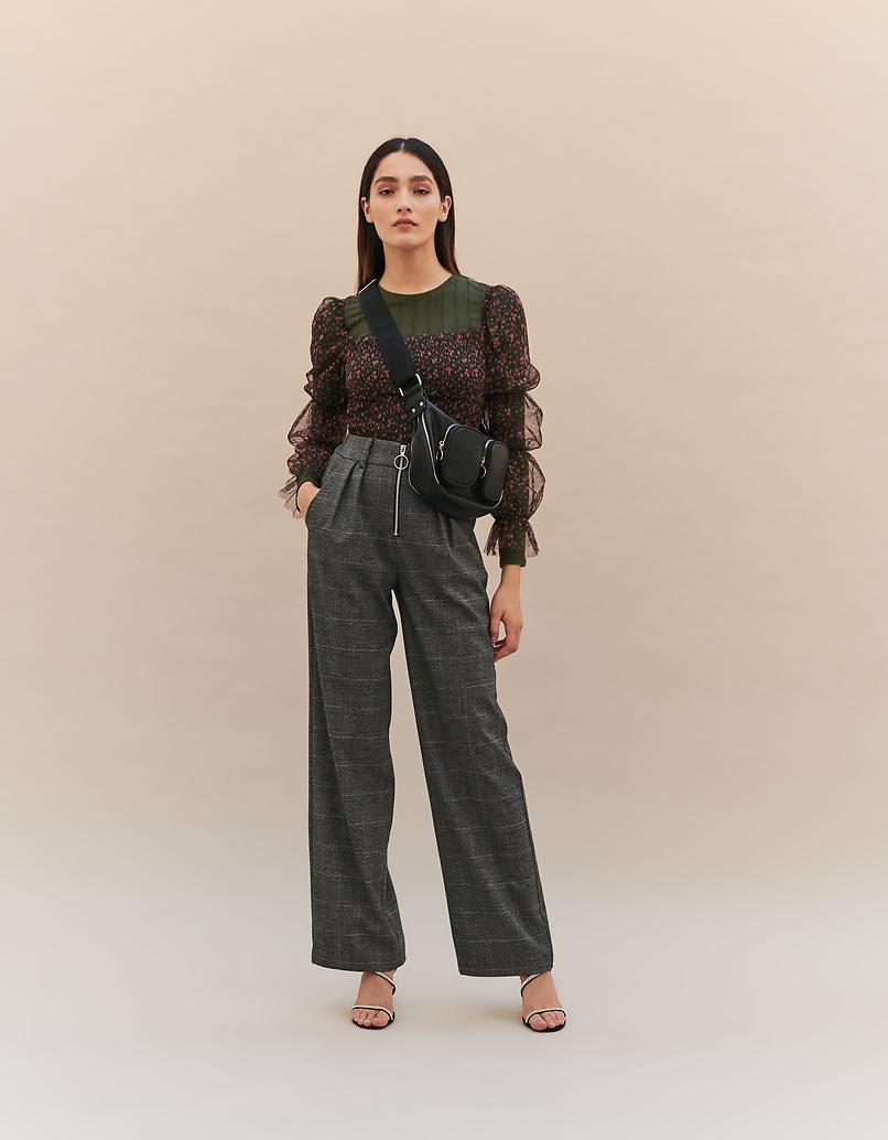Pantalon Fuselé à Carreaux