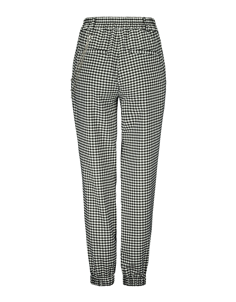 Vichy Cargo Pants with Chain