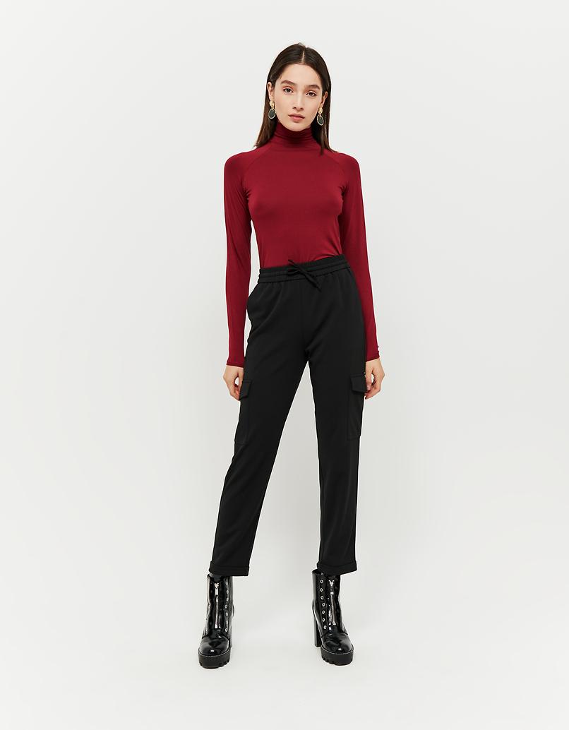 Black Cargo Trousers