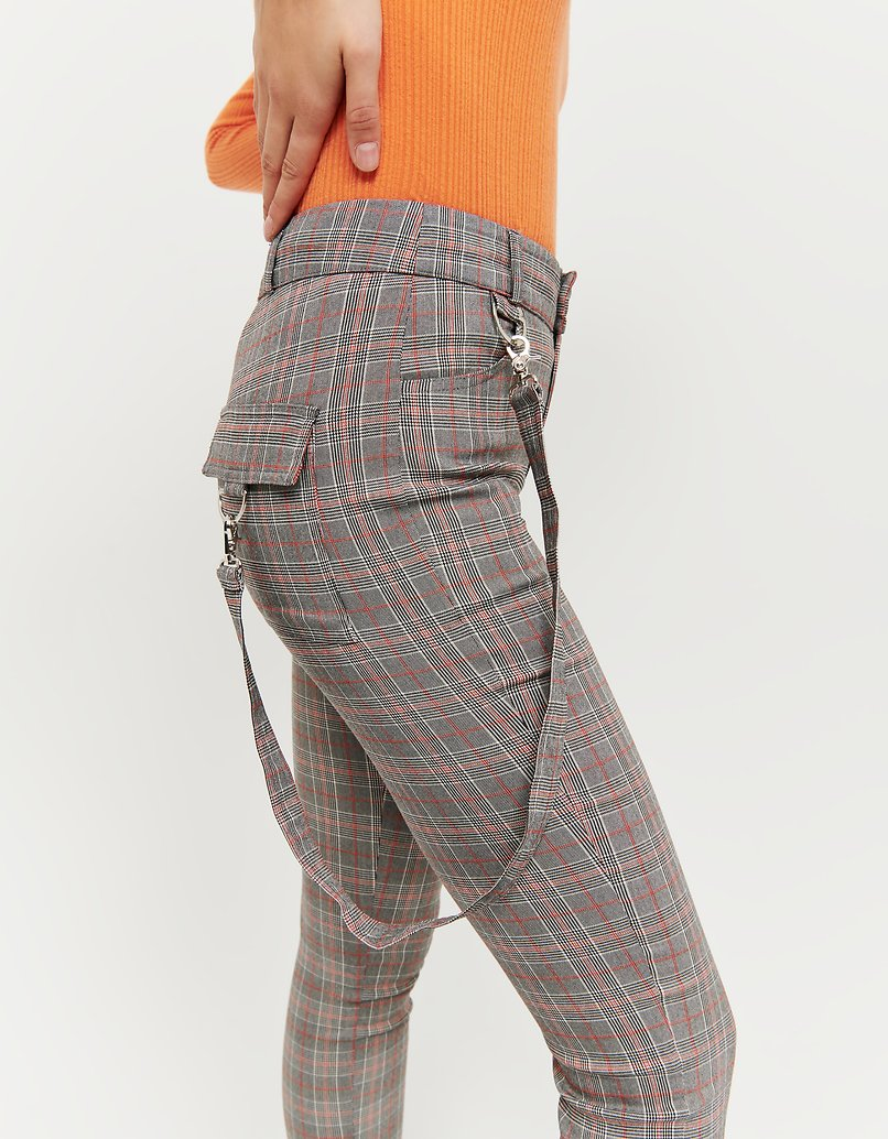 Skinny Check Trousers
