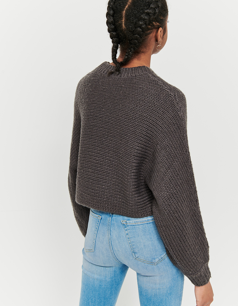 Pull Court Gris Poncho