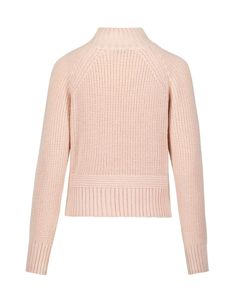 Pinker Pullover mit Reißverschluss