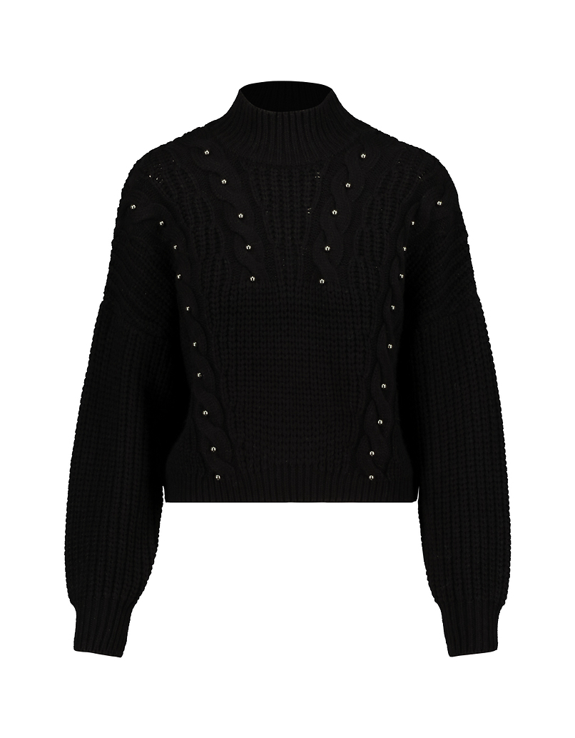 Black Jumper with Pearls