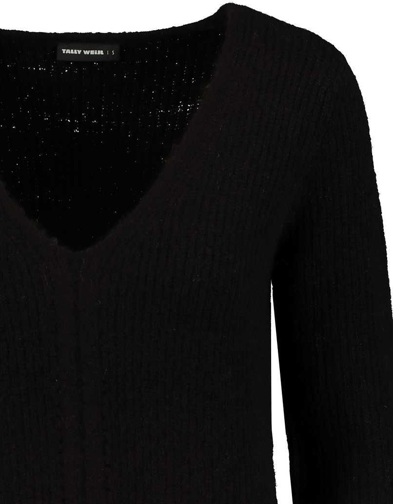 Black Pointelle Jumper