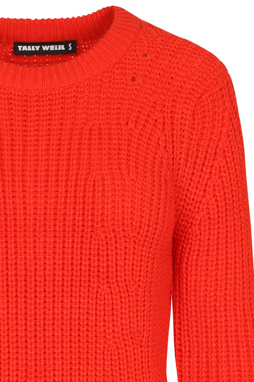 Orange-Red Knit Jumper